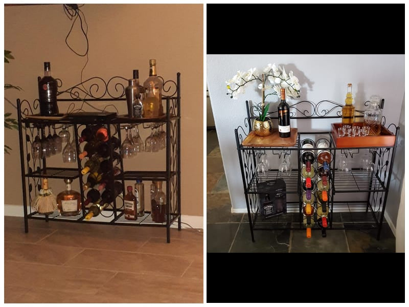 eHomeProducts Kitchen Bakers Rack with Wine Storage review