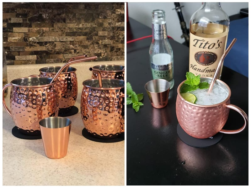Esonmus Moscow Mule Copper Mugs review