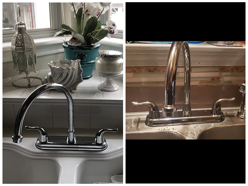EZ-FLO Chrome Kitchen Faucet with Pull-Out Side Sprayer  review