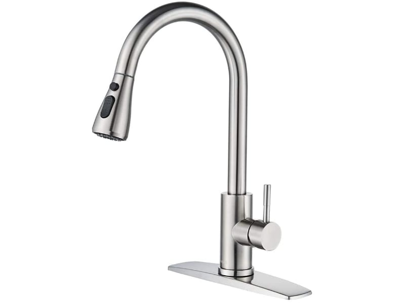 FORIOUS Kitchen Faucet with Pull Down Sprayer Brushed Nickel