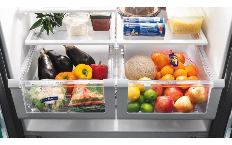 Fruits and Vegetables in Fridge Drawers - Image by Epicurious
