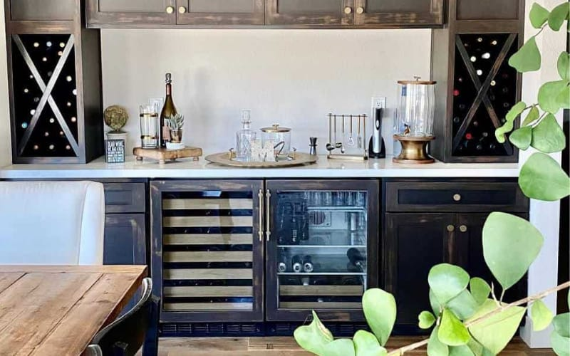 Functional Kitchen and Liquor Cabinet Installation - Image by tp. remodeling