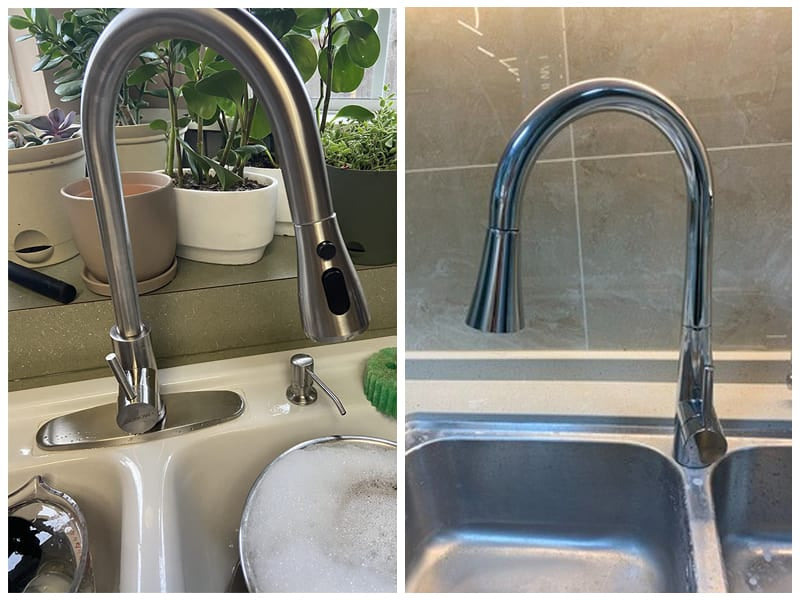 GOBOW High Arc Brushed Nickel Faucet Kitchen Faucet  review