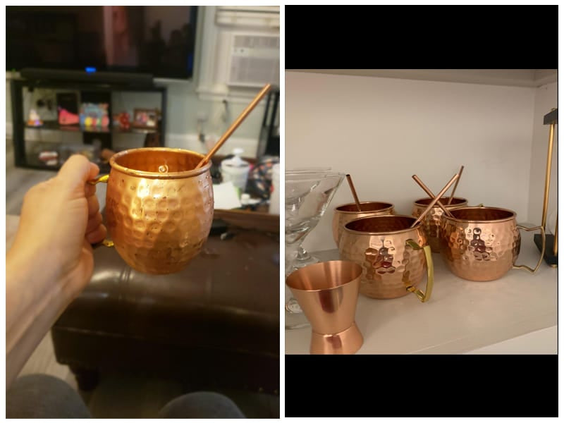 Gold Armour Moscow Mule Copper Mugs review