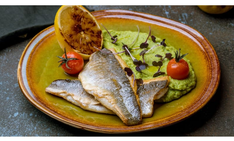 Fried Fish in Tomatillo Sauce