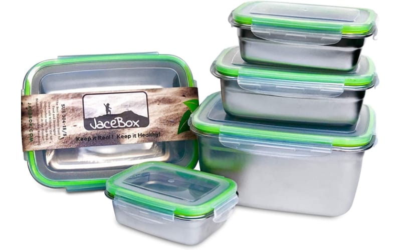 JaceBox Food Storage Containers - Stainless Steel 304 BPA FREE