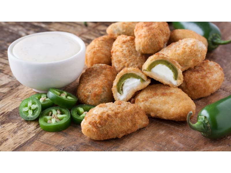 Jalapeno Popper Cups with fresh jalapeno and sour cream