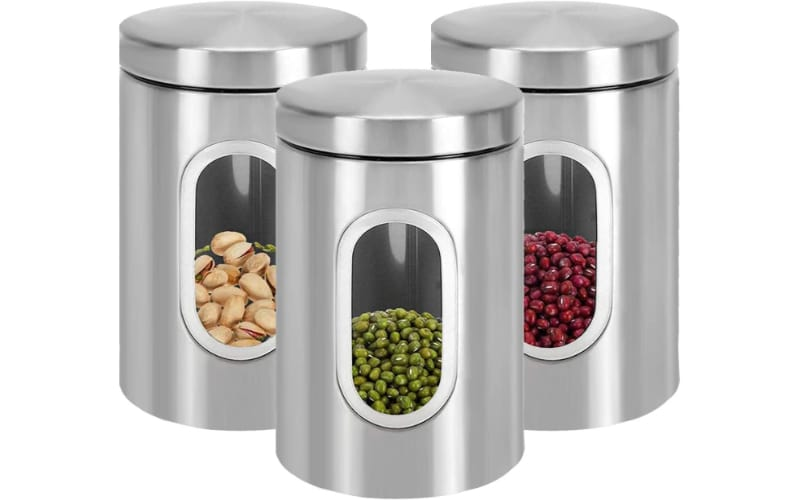 Jucoan 3 Pack Kitchen Canister Set