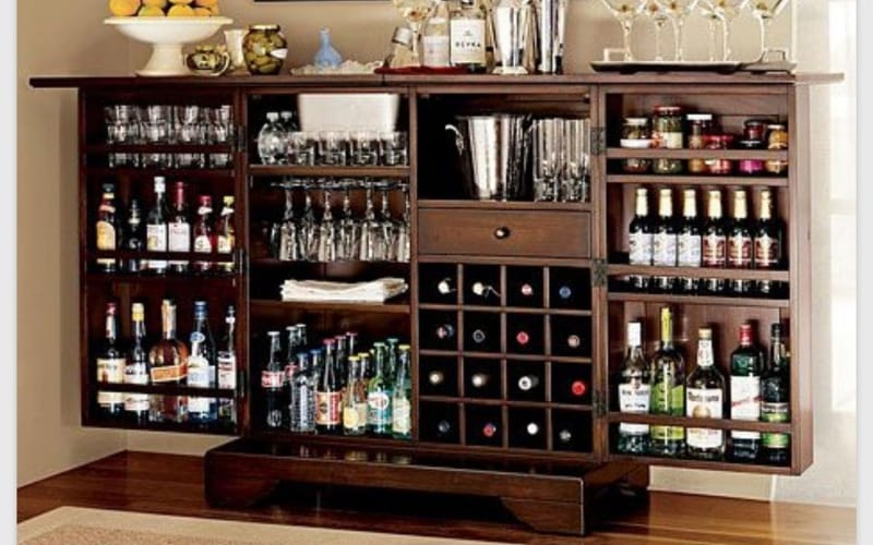 Large Cabinet Liquor Display - Image by Foter