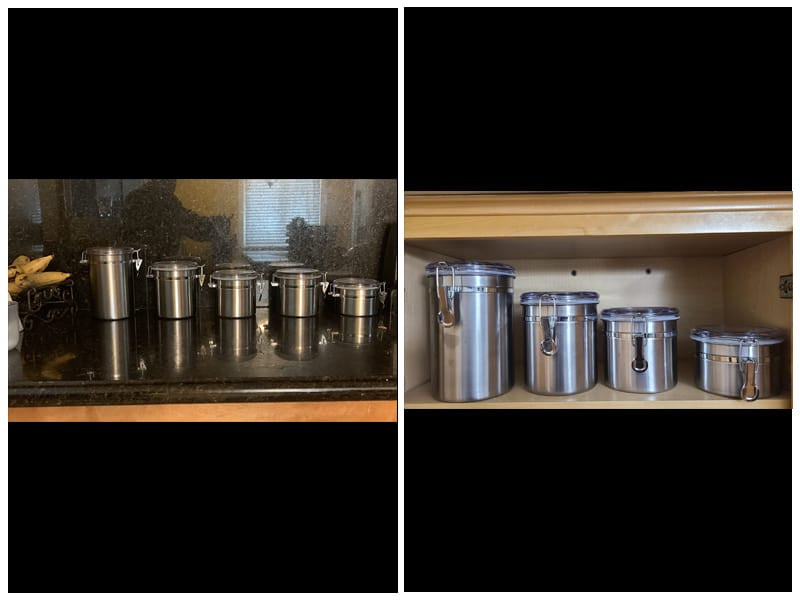 Le'raze Stainless Steel Airtight Canister Set review