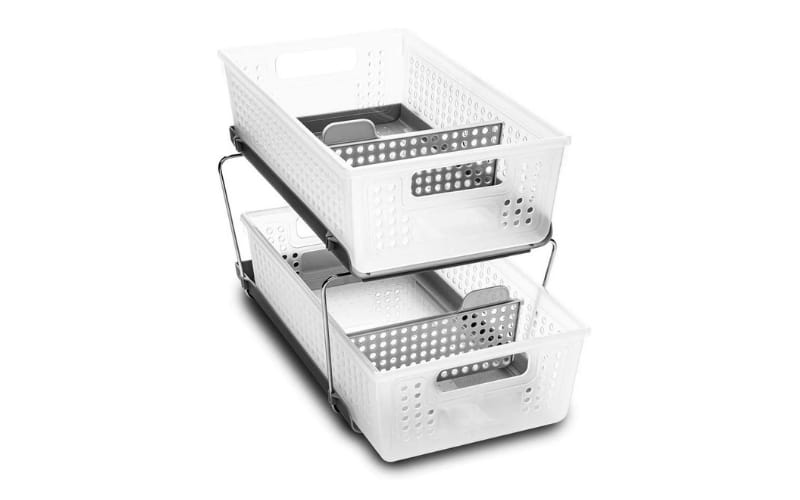 Madesmart Two-Tier Organizer Bath Collection Slide-out Baskets