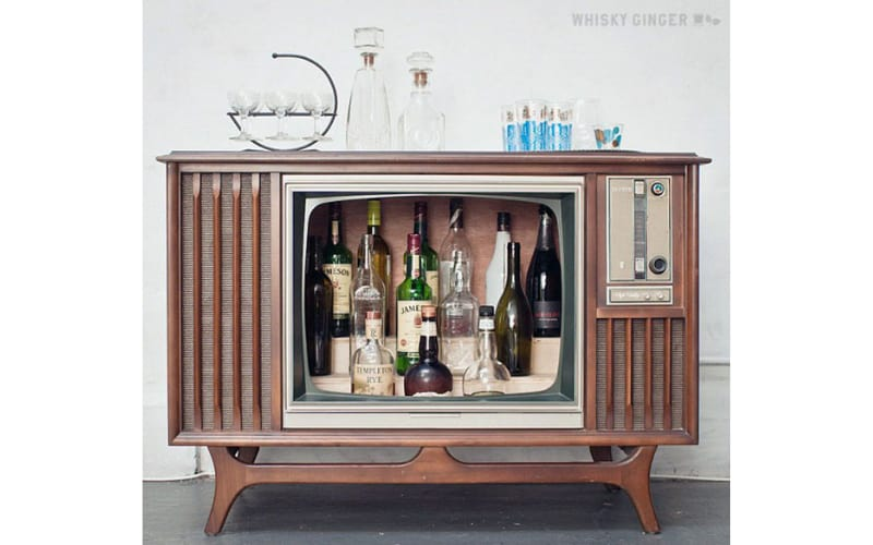 Old TV Tube Repurposed As Liquor Storage - Image by Waste Hunter