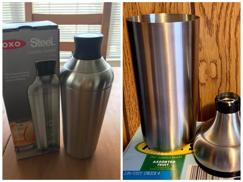 OXO Single Wall 24 Oz Cocktail Shaker review