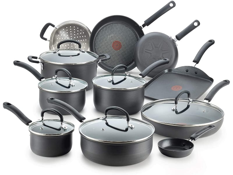 T-Fal Ultimate Hard Anodized Nonstick 17 Piece Cookware Set
