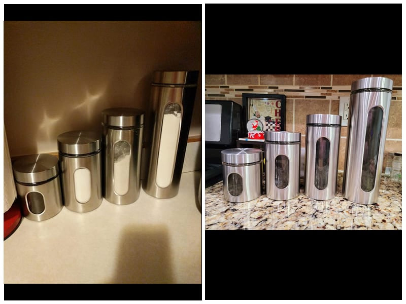 PENGKE Silver Stainless Steel Canister review