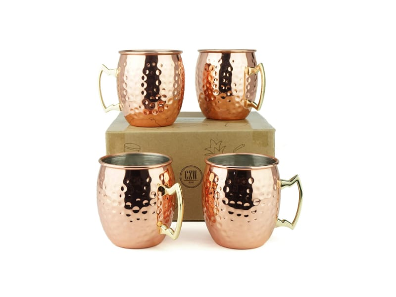 PG Hand Hammered Moscow Mule Mugs