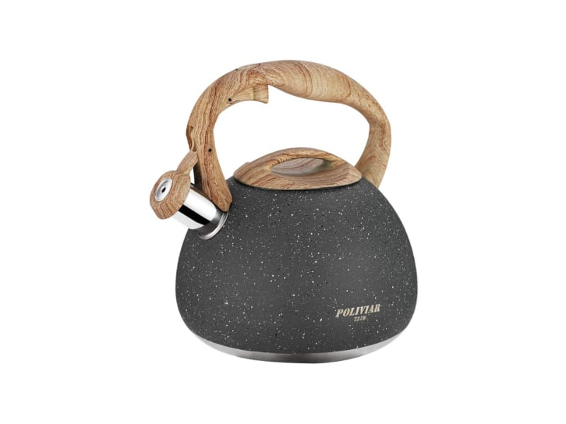 Poliviar natural stone tea kettle with a wooden handle