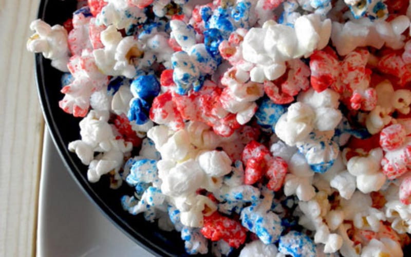 Red and Blue Popcorn - Image by Food Pusher
