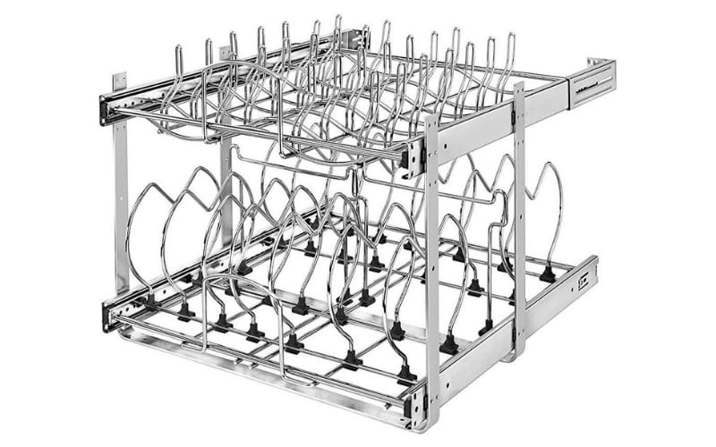 Rev-A-Shelf Two-Tier Wire Pull-Out Kitchen Cabinet Organizer