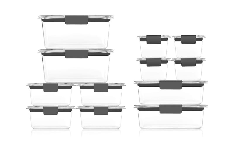 Rubbermaid Brilliance Horizontal Storage Containers