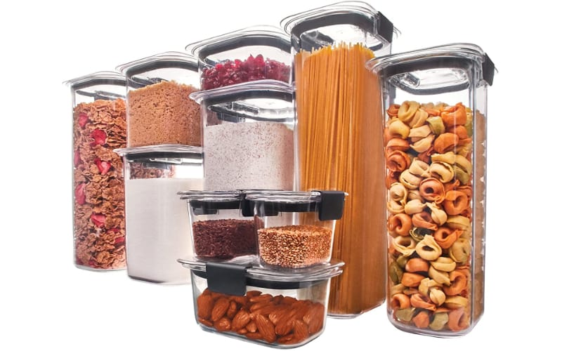 Rubbermaid Brilliance Dry Food Storage Containers