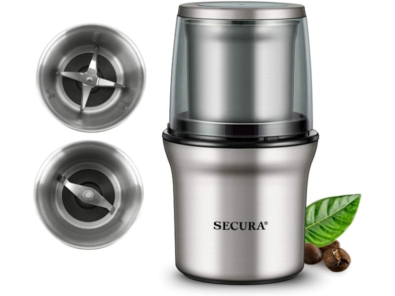 Secura Electric Grinder with 2 Stainless Steel Blades