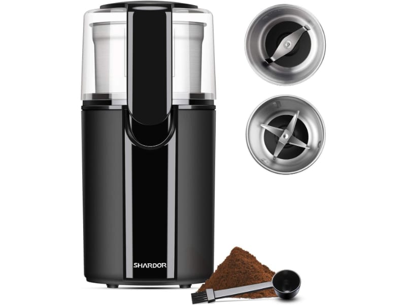 Shardor Grinder Electric with 2 Removable Stainless Steel Bowls