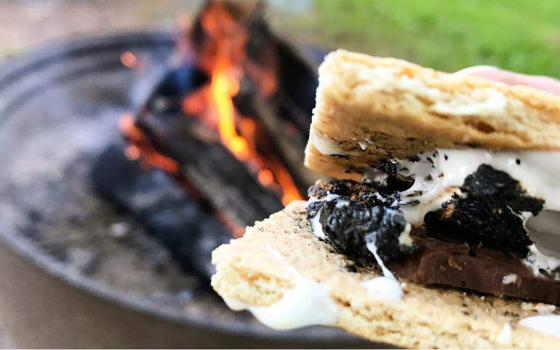 Smores By The Bonfire