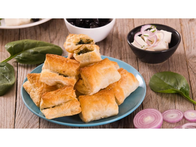 Spinach Puffs in a plate