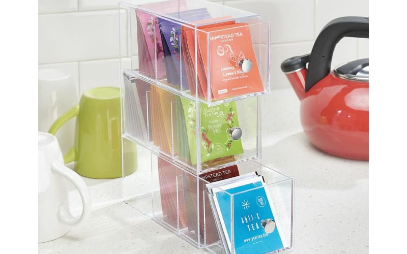 Tea Organizer with Tea Kettle and Mugs Within Reach - Image by M Design Home Decor