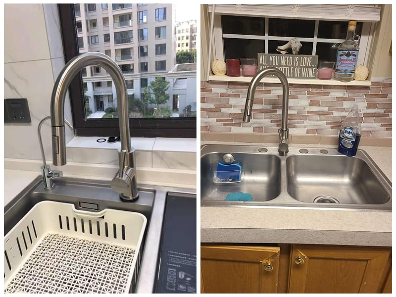 Tohlar Brushed Nickel Kitchen Sink Faucet  review