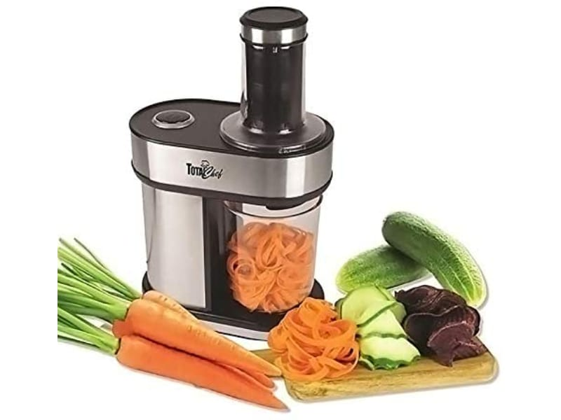 Total Chef Electric Vegetable Spiralizer 3 Interchangeable Blades for Veggie, Pasta and Noodles and Much more
