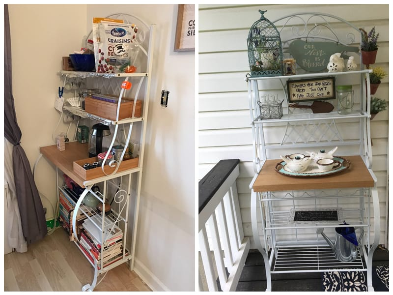 Trellis Baker's Rack with Scroll Work review