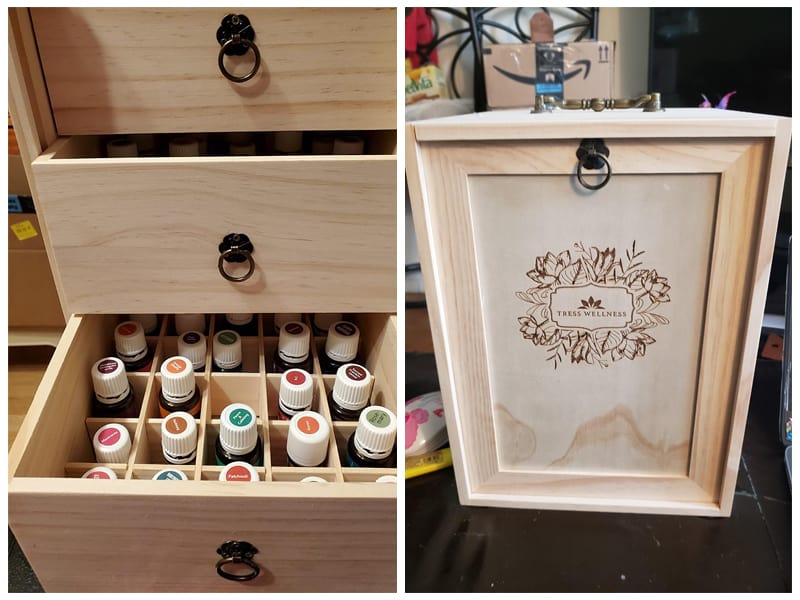 Tress Wellness Wooden Essential Oil Storage Box review