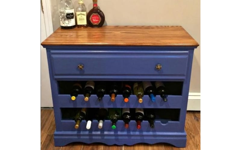 Upcycled Dresser Turned Liquor Cabinet - Image by Home Talk