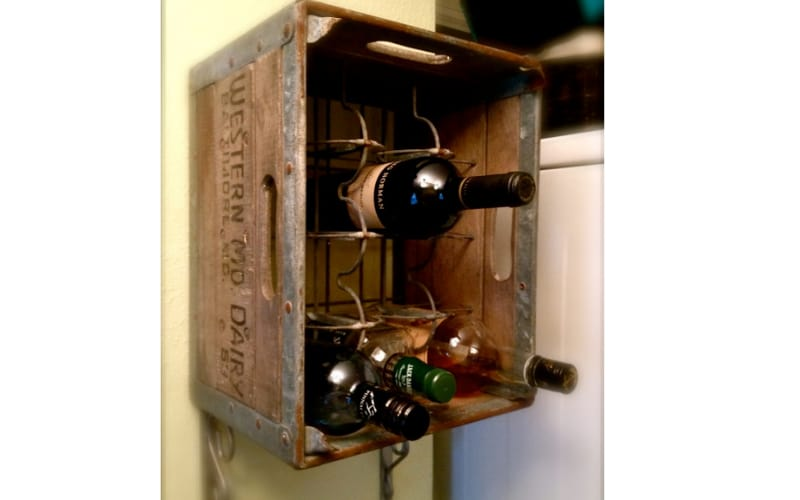 Upcycled Liquor Storage Using A Crate - Image by Architecture Art Designs