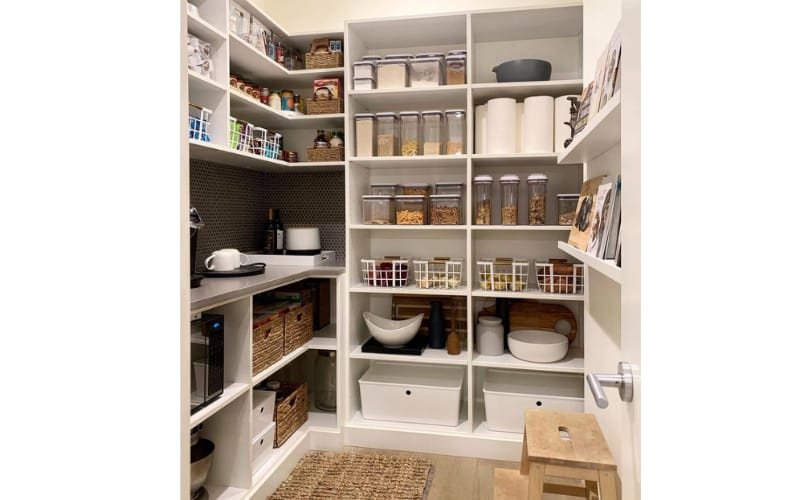 Walk-In Pantry with a Coffee Counter - Image by Jessica