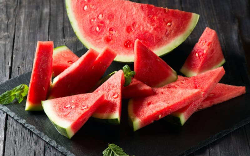 Watermelon Slices On A Platter