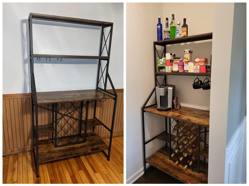 WAYTRIM Wine Baker's Rack Table review