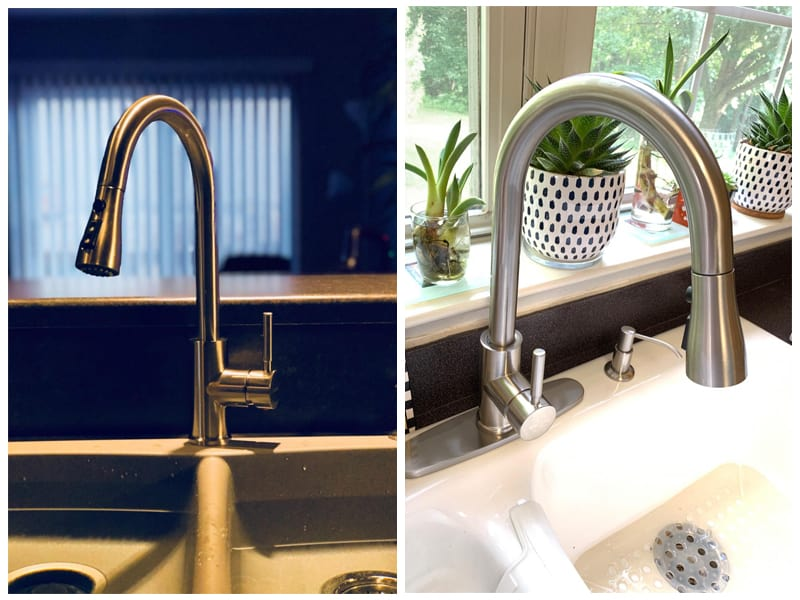 WEWE High Arc Brushed Nickel Kitchen Faucet  review