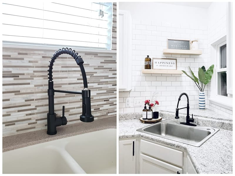 WEWE Stainless Steel Matte Black Kitchen Faucet review