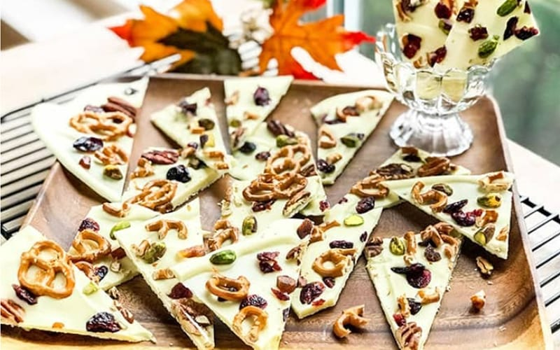 White Chocolate Bark with Pretzels and Nuts - Image by 31 Daily