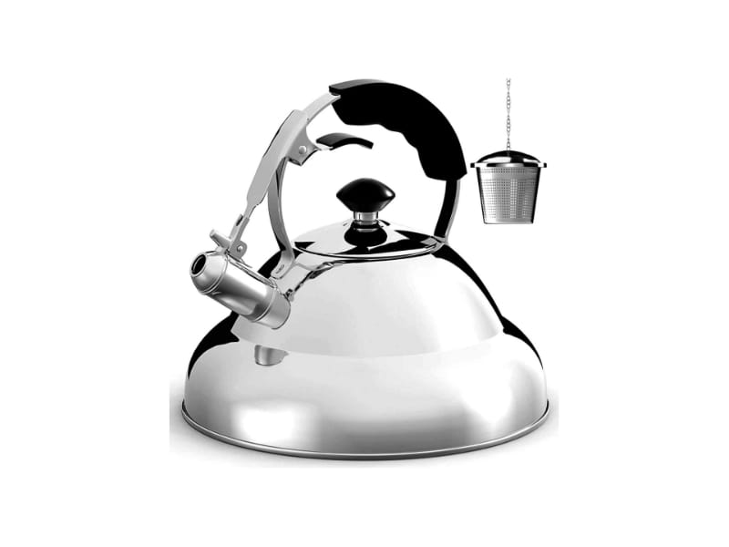 Willo & Everett Tea Kettle with stainless steel infuser and a stay-cool handle