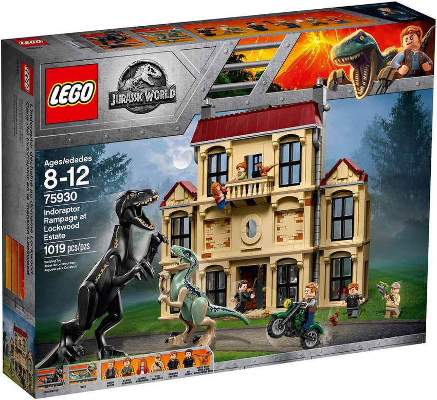 LEGO JURASSIC WORLD - INDORAPTOR RAMPAGE AT LOCKWOOD ESTATE 75930