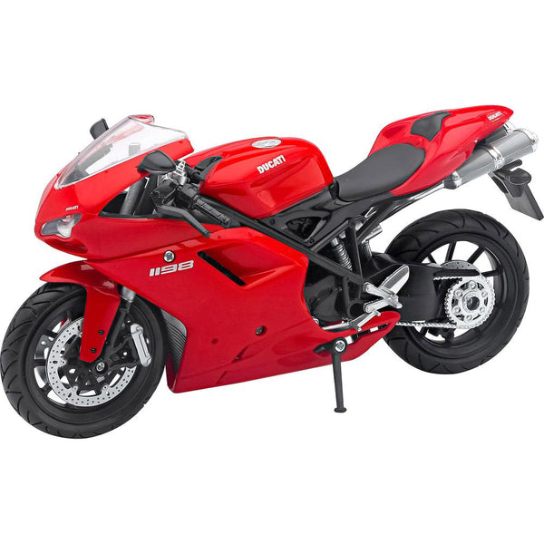 MOTO NEW RAY DUCATI 1198 STREET BIKE ESCALA 1/12