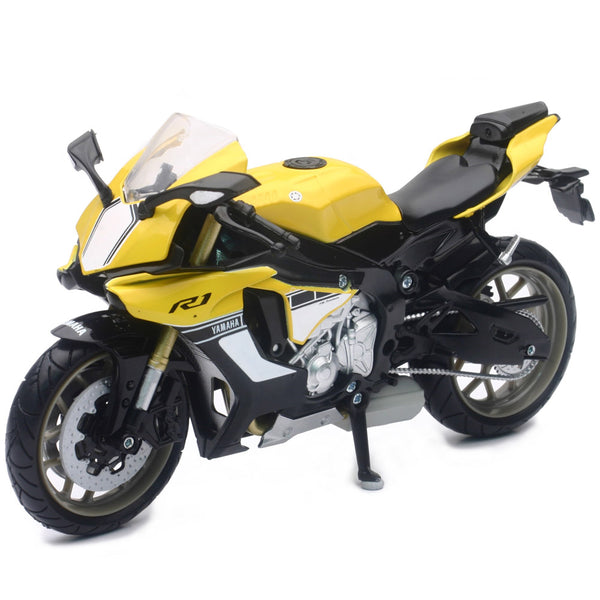 MOTO NEW RAY YAMAHA YZF-R1 STREET BIKE ESCALA 1/12 - AMARELO