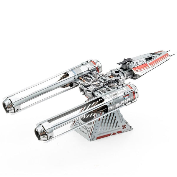 MINIATURA DE MONTAR METAL EARTH - STAR WARS - ZORII'S Y-WING FIGHTER MMS415 OUTROS
