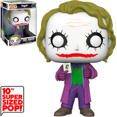 "FUNKO POP HEROES THE DARK KNIGHT TRILOGY - THE JOKER (10"" SUPER SIZED) 334"