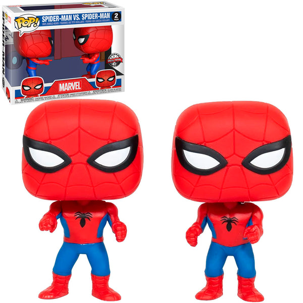 FUNKO POP MARVEL EXCLUSIVE - SPIDER-MAN VS SPIDER-MAN - 2PACK