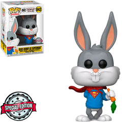 FUNKO POP ANIMATION LOONEY TUNES EXCLUSIVE - BUGS BUNNY AS SUPERMAN 842